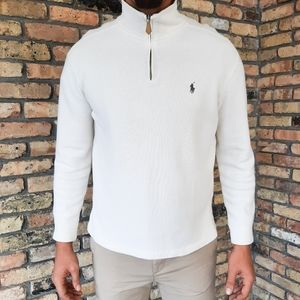 Polo Ralph Lauren Pique Knit Cotton Sweater Zip-Up